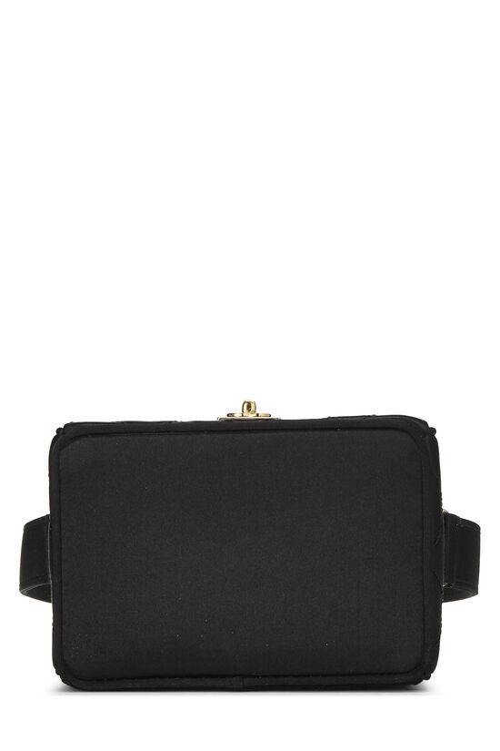 Black Quilted Satin Box Vanity Mini, , large image number 4