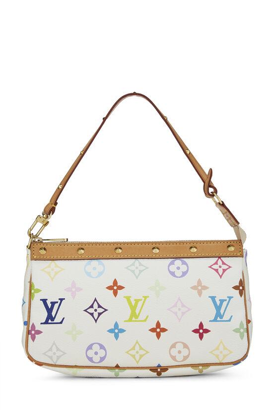 Takashi Murakami x Louis Vuitton White Monogram Multicolore Pochette Accessoires, , large image number 0