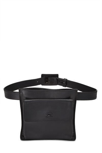 Black Calfskin Belt Bag 75