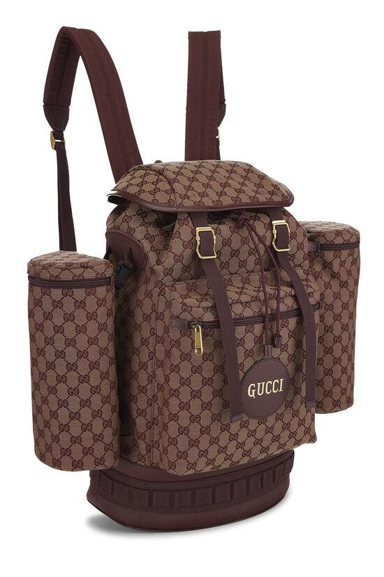 Burgundy GG Canvas Backpack Large, , large image number 1