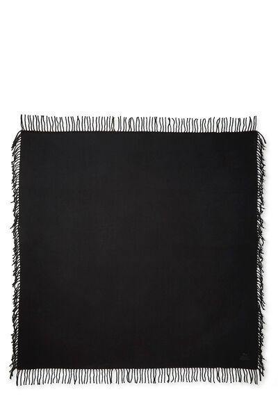 Black Cashmere Baby Blanket, , large