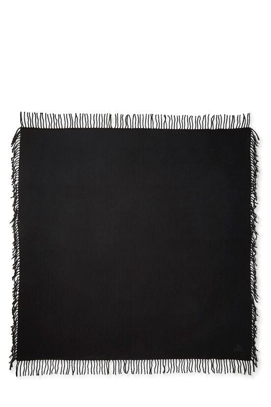 Black Cashmere Baby Blanket, , large image number 1