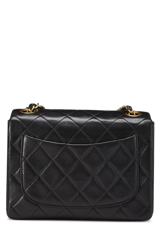 Black Quilted Lambskin Half Flap Mini, , large image number 3