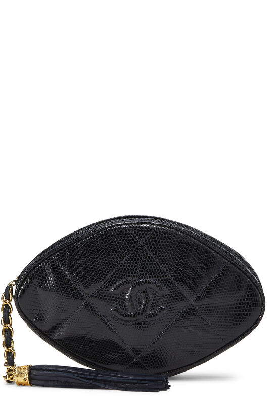 Navy Lizard Oval Clutch, , large image number 0