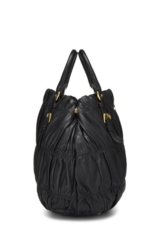 Black Nappa Gaufre Handbag, , large image number 2