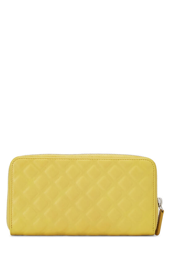 Yellow Lambskin 'CC' Zippy, , large image number 2