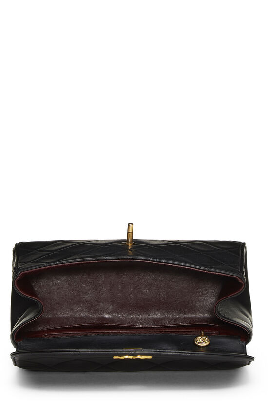 Black Quilted Lambskin Top Handle Bag, , large image number 5