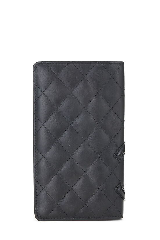 Black Quilted Calfskin Cambon Wallet, , large image number 1