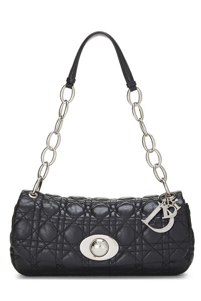 Black Cannage Quilted Lambskin Rendezvous Small