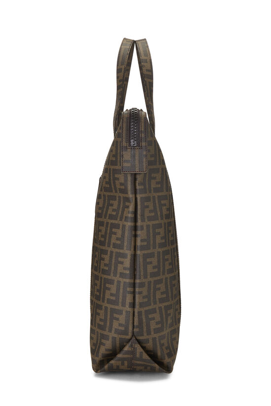 Brown Zucca Coated Canvas Vertical Tote Large, , large image number 2