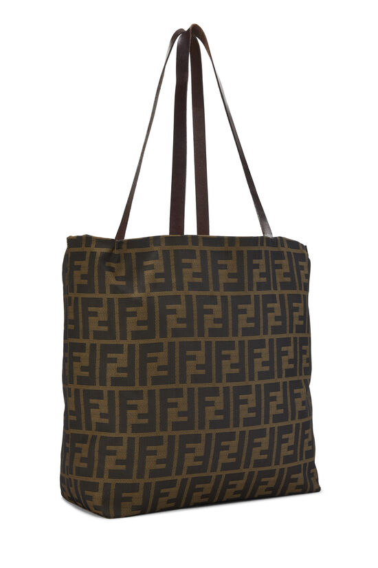 Brown Zucca Nylon Tote Small, , large image number 1