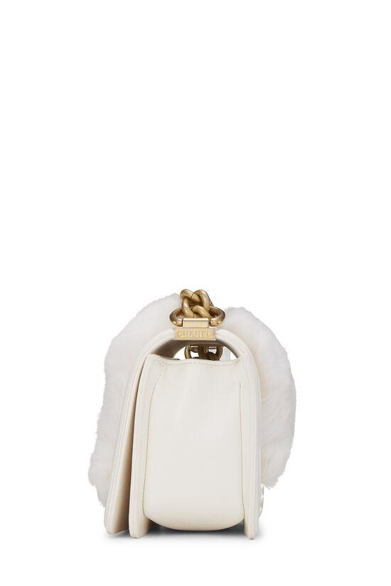 White Fur & Calfskin Boy Bag Small, , large image number 3