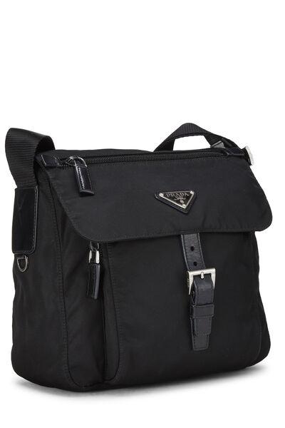 Black Vela Messenger Bag, , large