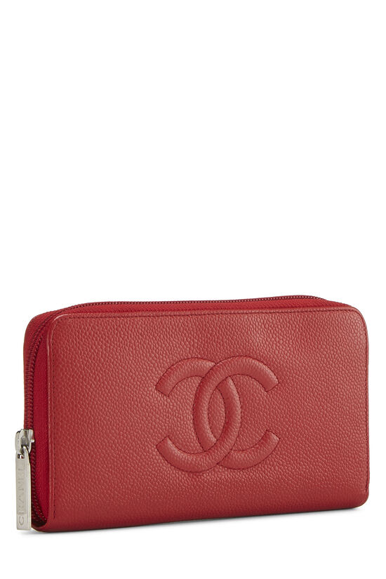 Red Caviar 'CC' Zip Wallet, , large image number 1