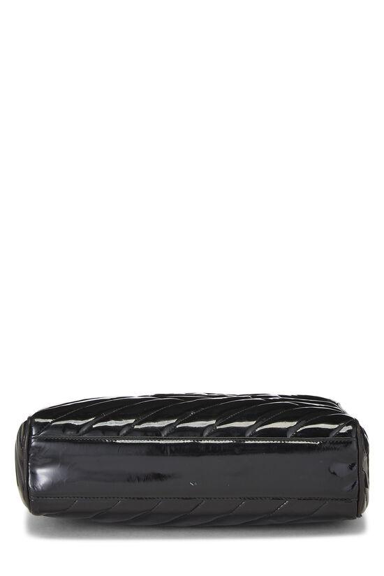 Black Patent Leather Diagonal Camera Bag Large, , large image number 5