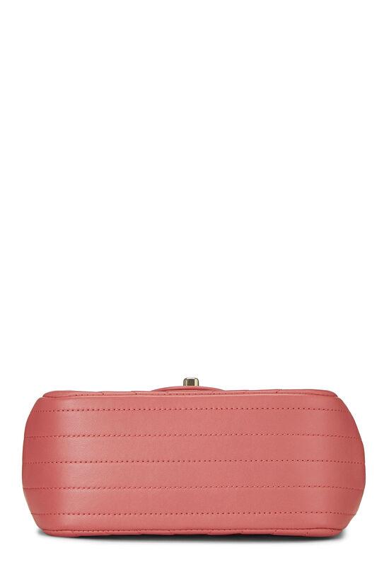 Pink Chevron Lambskin Classic Square Flap Mini, , large image number 4