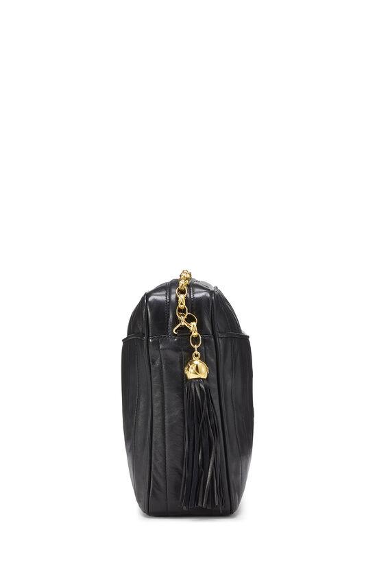Black Vertical Lambskin Pocket Camera Bag Large, , large image number 3