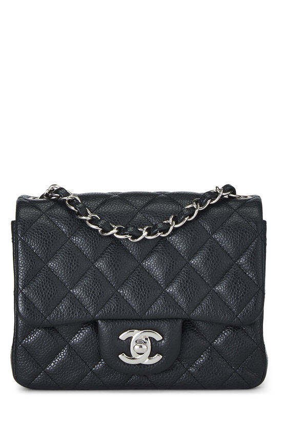 Black Quilted Lambskin Classic Square Flap Mini, , large image number 0