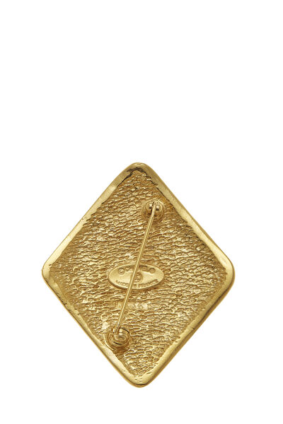 Gold 'CC' Stamped Pin, , large