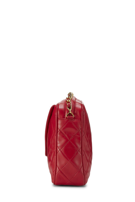 Red Diagonal Lambskin 'CC' Camera Bag Medium, , large image number 3