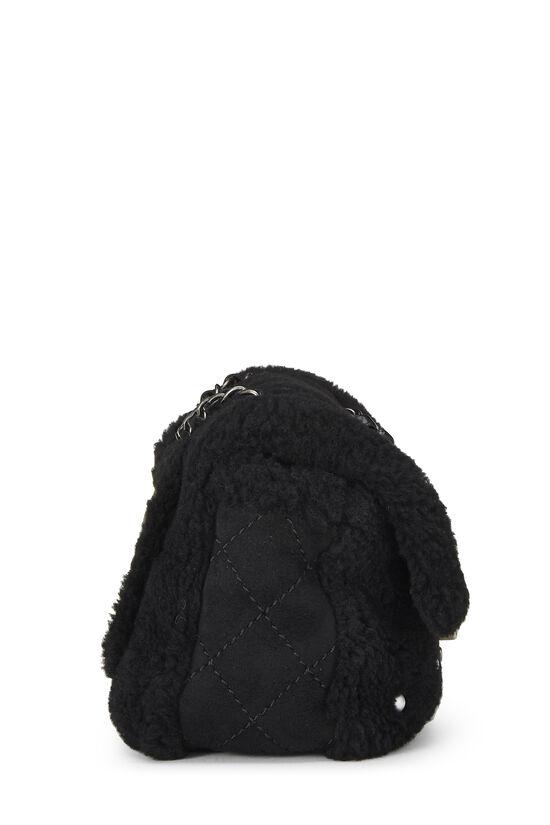 Black Shearling & Faux Pearl Flap Medium, , large image number 2