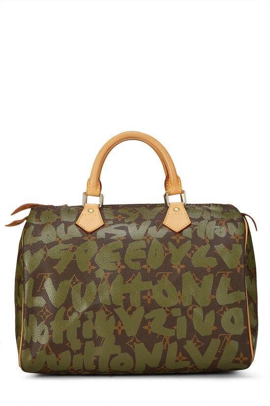 Stephen Sprouse x Louis Vuitton Monogram Green Graffiti Speedy 30, , large image number 0