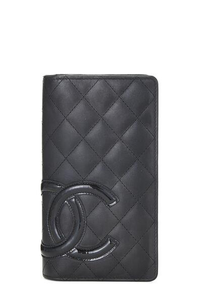 Black Quilted Calfskin Cambon Wallet