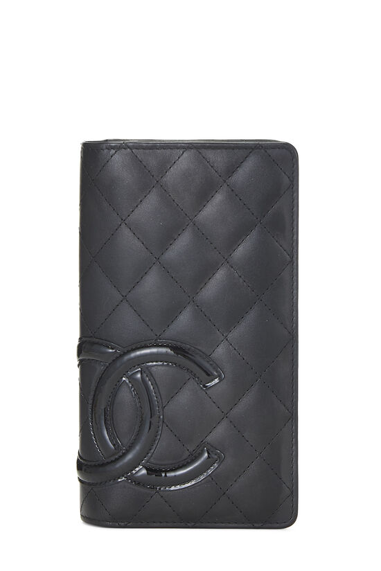 Black Quilted Calfskin Cambon Wallet, , large image number 0