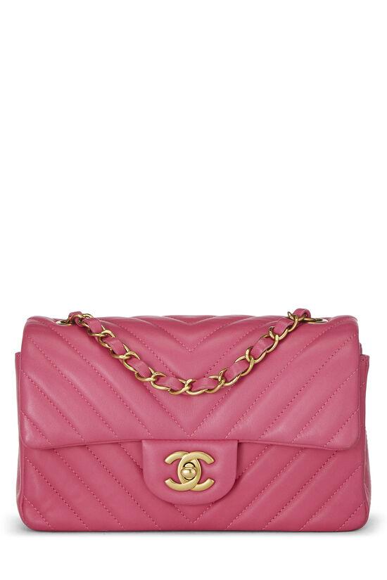 Pink Chevron Lambskin Classic Flap Mini, , large image number 0