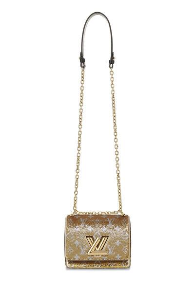 Gold Monogram Sequin Exceptional Twist PM, , large