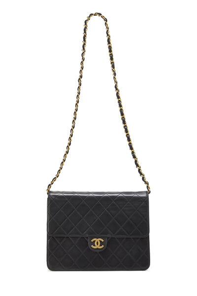 Black Quilted Lambskin Ex Flap Small, , large