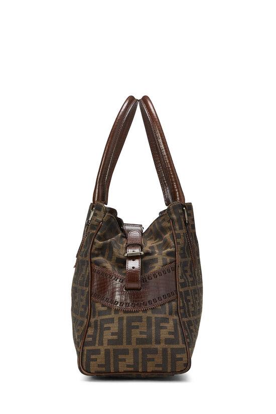 Brown Zucca Canvas Bag Du Jour Medium, , large image number 2