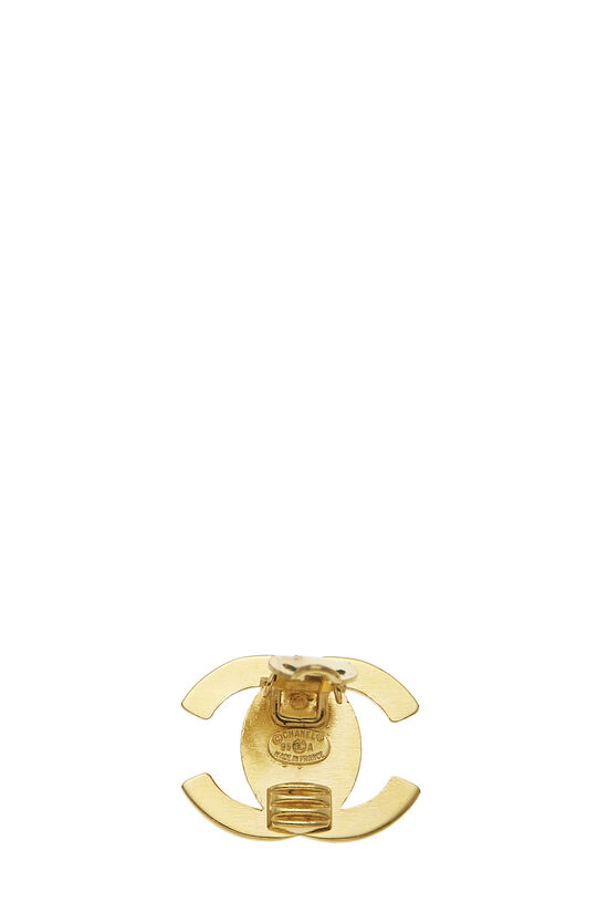 Gold 'CC' Turnlock Earrings Large, , large image number 2