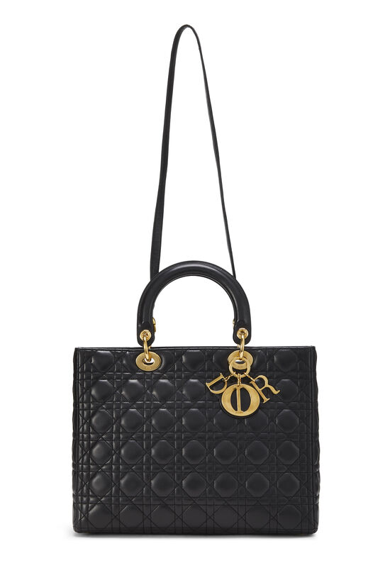 Black Cannage Quilted Lambskin Lady Dior Large, , large image number 6