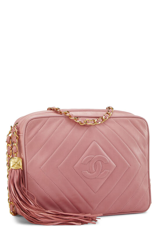 Pink Lambskin Diamond CC Camera Bag Medium, , large image number 2