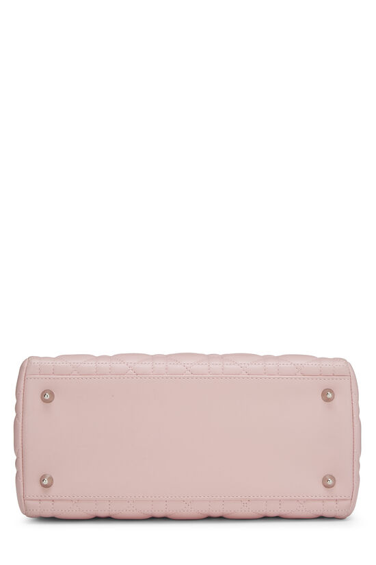 Pink Cannage Quilted Lambskin Lady Dior Medium, , large image number 4