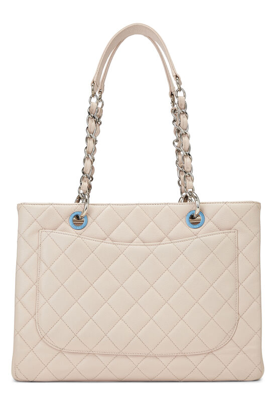 Pink Quilted Caviar Grand Shopping Tote (GST), , large image number 3