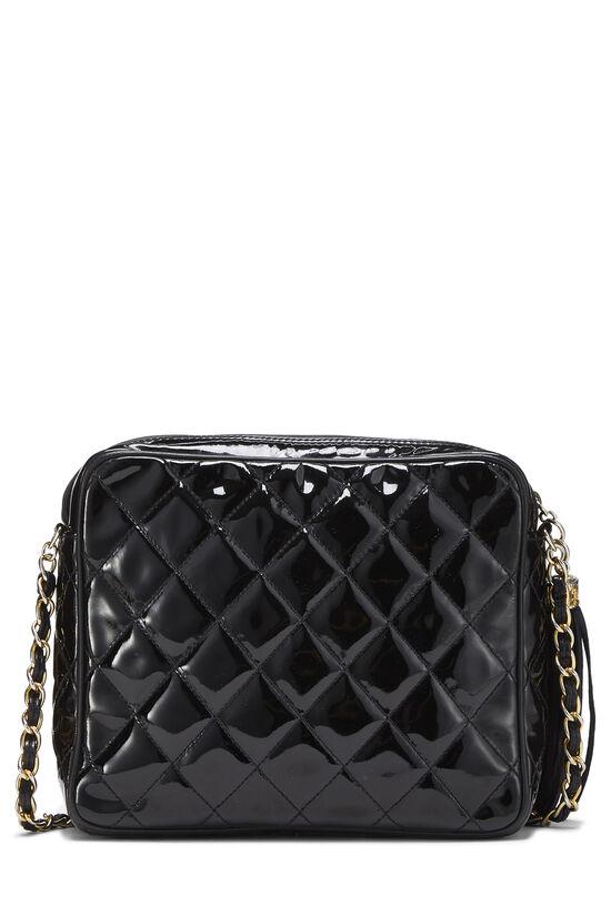 Black Patent Leather Diagonal Camera Bag Small, , large image number 3
