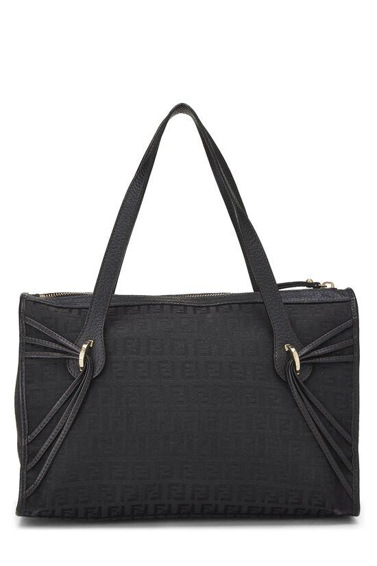 Black Zucchino Canvas Handbag Small, , large image number 3