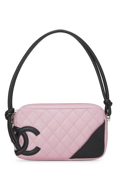 Pink Quilted Calfskin Cambon Ligne Pochette