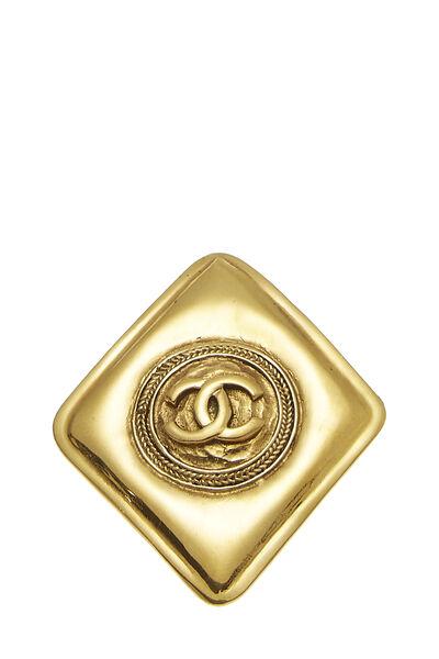 Gold 'CC' Diamond Shaped Pin