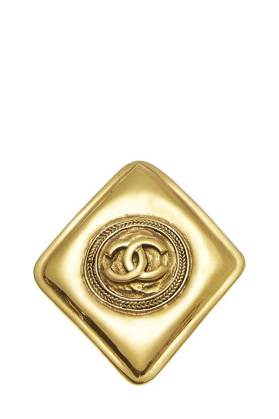 Gold 'CC' Diamond Shaped Pin, , large image number 0
