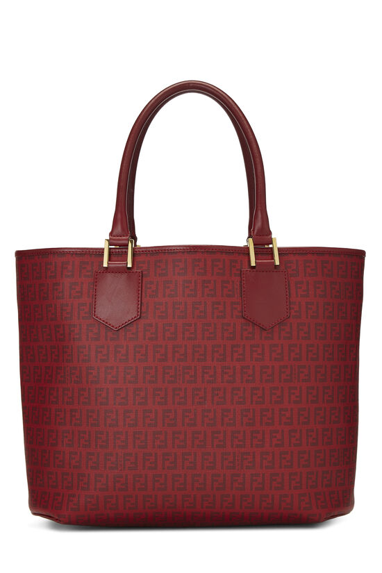 Red Zucchino Coated Canvas Tote, , large image number 3
