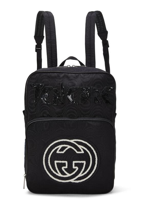 Black Nylon Tenebre Backpack, , large image number 0