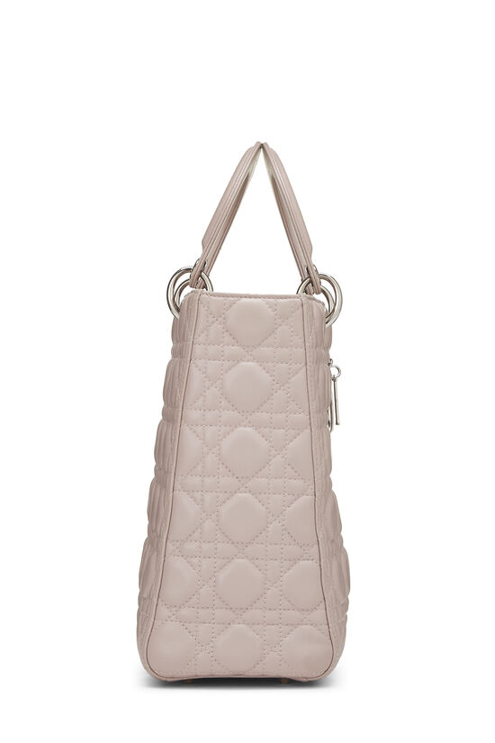 Pink Cannage Quilted Lambskin Lady Dior Large, , large image number 2