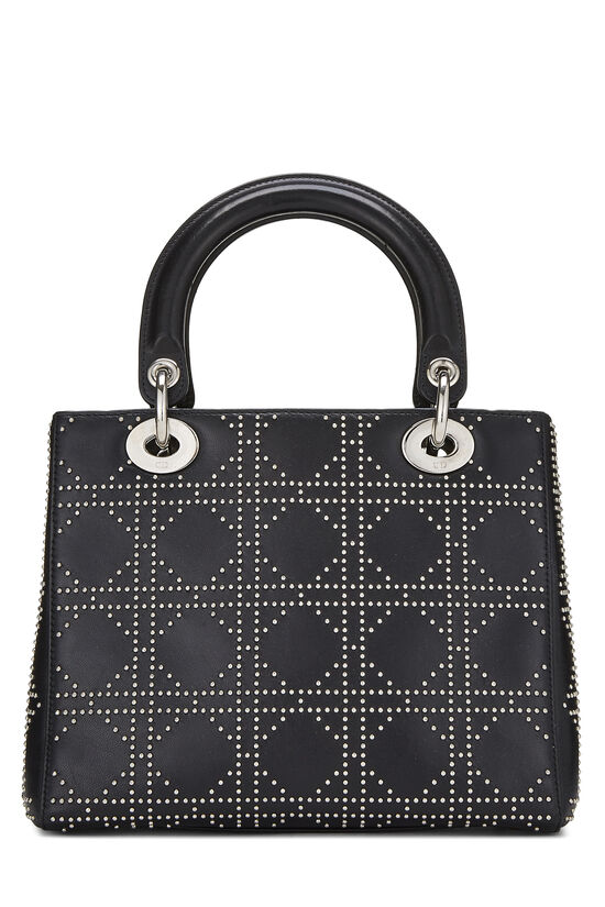 Black Cannage Studded Lambskin Lady Dior Medium, , large image number 4