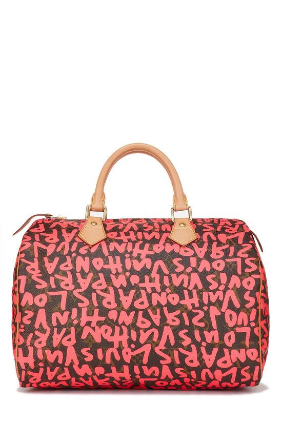 Stephen Sprouse x Louis Vuitton Monogram Pink Graffiti Speedy 30, , large image number 3