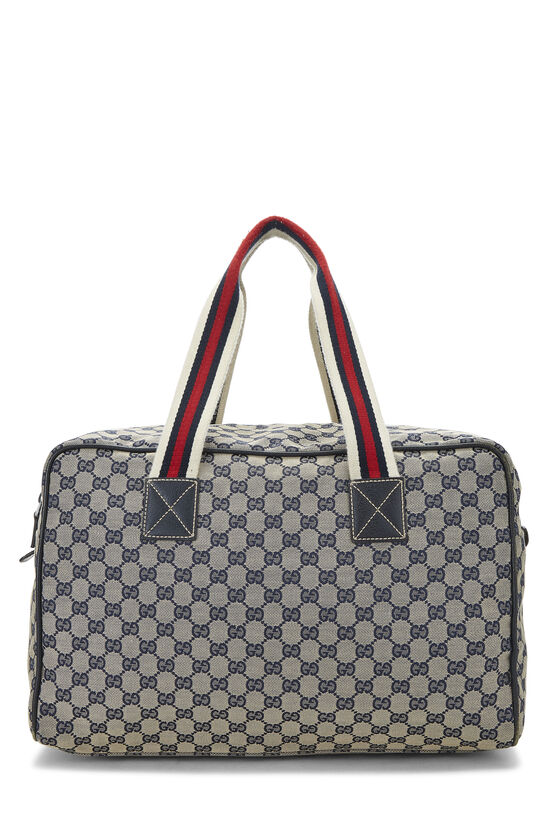Navy GG Canvas Carry On Duffle Large, , large image number 3