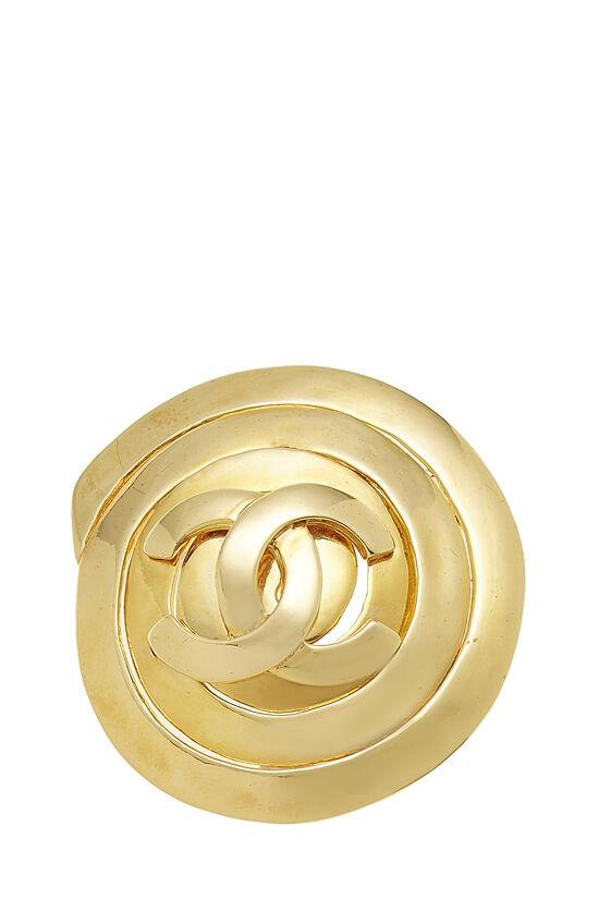 Gold 'CC' Swirl Pin Large, , large image number 0