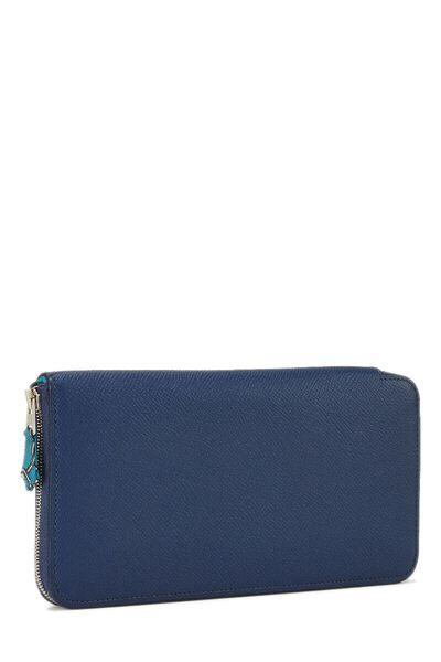Blue Saphir Silk-In Epsom Azap Continental Wallet, , large